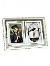 Graduation Photo Frame With Clock