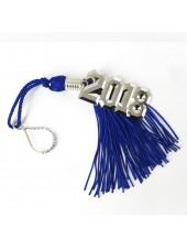 Graduation Key Chain Tassel 2018 Charm-Royal Blue