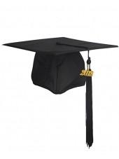 Matte Adult Graduation Cap with Tassel-Black