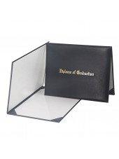 "Smooth Diploma Certificate Cover With ""Diploma Of Graduation""  Black"