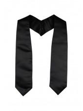 Plain Graduation Stole(youth)-Black