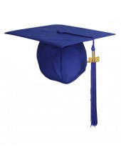 Matte Adult Graduation Cap with Tassel-Royal Blue