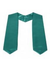 Plain Graduation Stole(youth)-Emerald