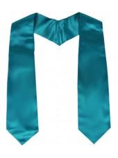 Plain Graduation Stole--Turquoise