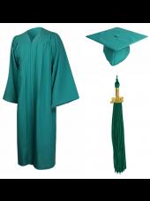 01_high_school_graduation_cap_gown_matte_emerald_green