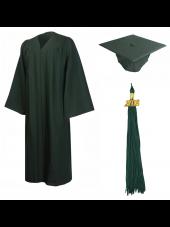 01_high_school_graduation_cap_gown_matte_forest_green