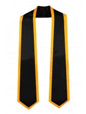 graduation honor stole black gold-main