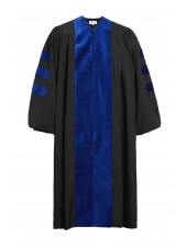 Deluxe Doctoral Graduation Gown Only - PhD Blue trim