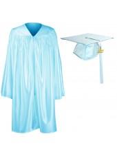 Preschool Graduation Cap Gown Package--Sky  Blue