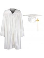Kindergarten Graduation Cap Gown Package--White