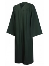 Premium Graduation Gown Only--Forest Green