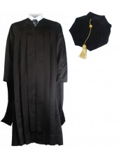 Deluxe Master Graduation Gown Tam Package