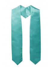 Plain Graduation Stole--Turquoise-main