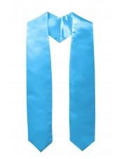 plain graduation stole-sky
