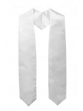 Plain Graduation Stole-White-main