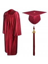 01_high_school_graduation_cap_gown_shining_maroon