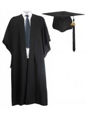 UK Bachelor Graduation Gown + US Cap