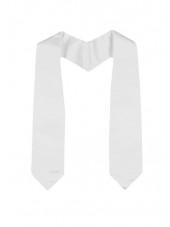 Plain Graduation Stole(youth)-White