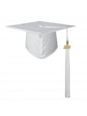 Matte Adult Graduation Cap with Tassel-White