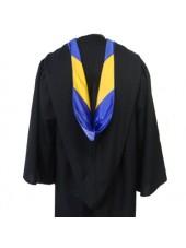 Custom Deluxe Bachelor Graduation Hood Of Quality Velvet And Satin Fabric