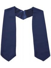 Navy Blue Plain Graduation Stole Of High Quality Satin Polyester