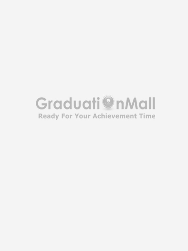 White Plain Graduation Stole Of High Quality Satin Polyester