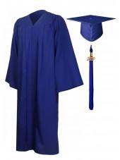 Economy Bachelor Graduation Gown Cap Tassel Package -Royal blue