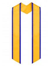 graduation stole gold-royal