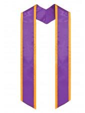 graduation stole purple-gold