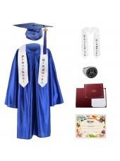 Kindergarten graduation cap,gown,sash&stole,ring,certificate