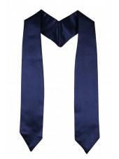 Plain Graduation Stole(youth)-Navy Blue