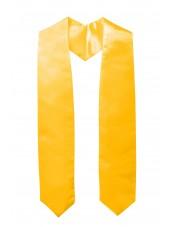 plain graduation stole-gold