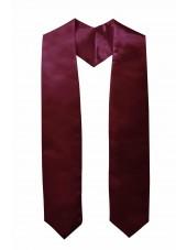 Plain Graduation Stole-Maroon