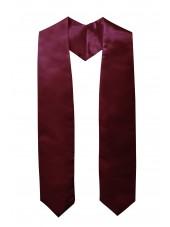 Plain Graduation Stole(youth)-Maroon