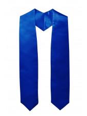 Plain Graduation Stole(youth)-Royal Blue