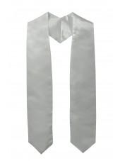 Plain Graduation Stole-Silver