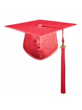 Red Adult Graduation Cap With Hard Board