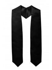 Plain Graduation Stole-Black
