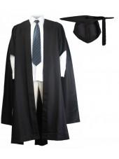 UK Fluted Master Graduation Gown + UK Cap