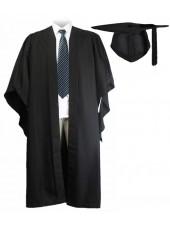 UK Fluted Bachelor Graduation Gown + UK Cap