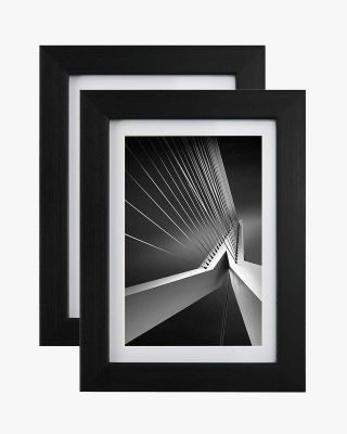 "Photo Frame Black with High Definition Glass, Pack of 2 - 4"" x 6"" / 5"" x 7"" / 8"" x 10"" Size"