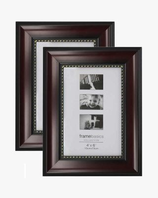 Mahogany Picture Frame,Photo Display with Gold Beading,pack of 2 - 3 Sizes Available