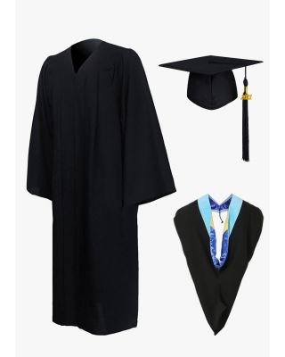 Economy Bachelor Graduation Cap Gown Hood Package