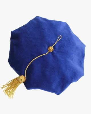 Blue Deluxe Doctorate Tam – 6/8 Sided Available