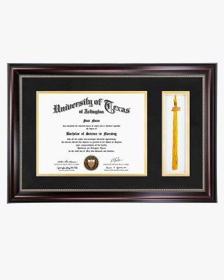 "Certificate Document Frame with Tassel Holder & Real Glass – 8.5""x11''"