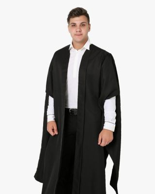 Deluxe Fluted Master Academic Gown