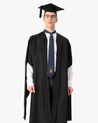 Deluxe Fluted Master Academic Gown & Mortarboard