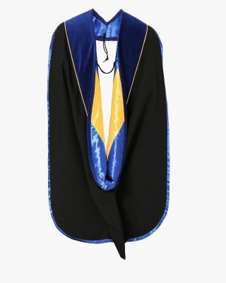Deluxe Doctoral Hood - 10 Color Combinations Available