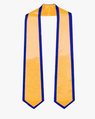 Graduation Stole Classic End With Trim - 11 Colors Available