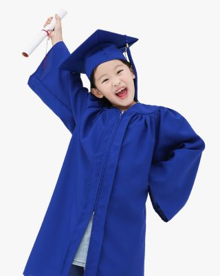 Matte Kindergarten Cap, Gown & Tassel Package – 9 Colors Available